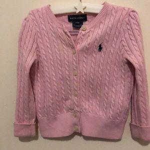 Pink Ralph Lauren cardigan size 24months